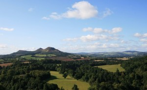 Overlooking the Eildon Hills