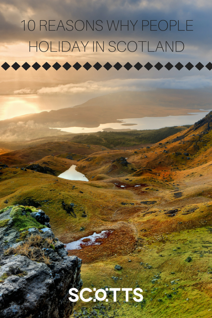Beautiful landscapes, one of 10 reasons why people choose to holiday in Scotland