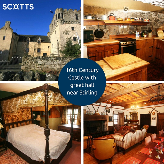 Outlander 16th Century Castle for holidays in Scotland