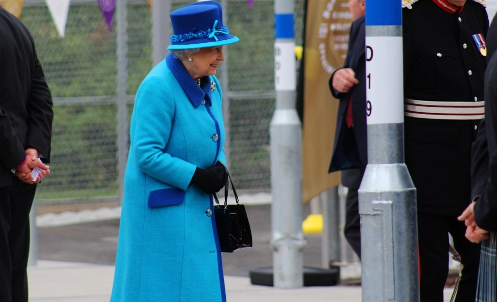 The phrase - she is in blue - went round the crowd. Image - Antony Sherlock