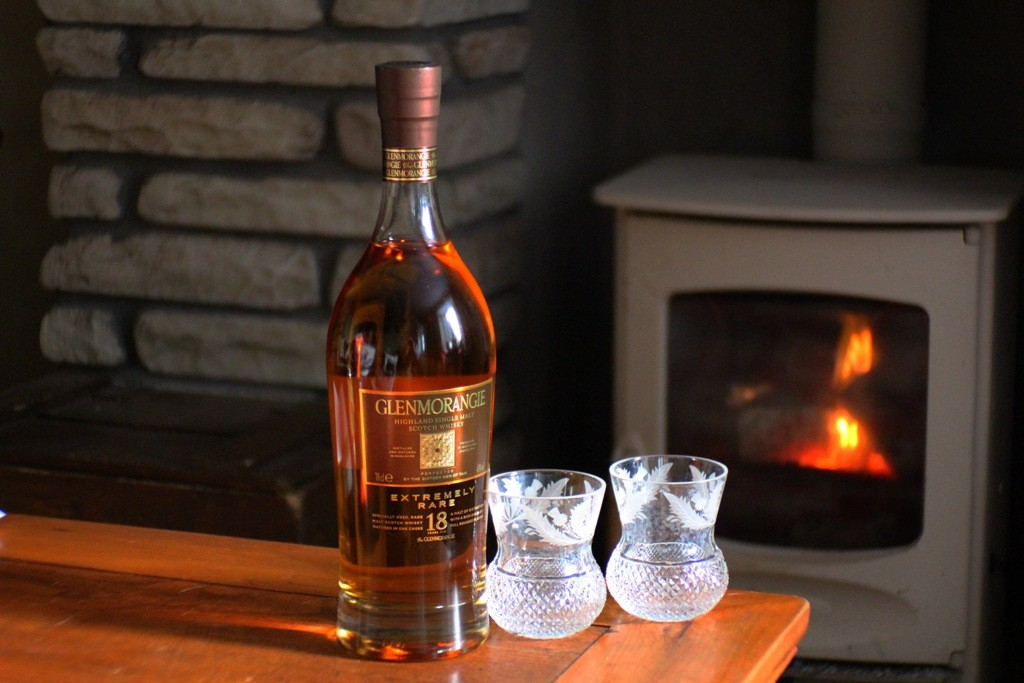 Ready to offer your guests a dram at your holiday house in Scotland. Copyright Scotts Castle Holidays