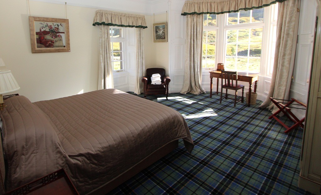 Spacious bedrooms with amazing views. Copyright Scotts Castle Holidays