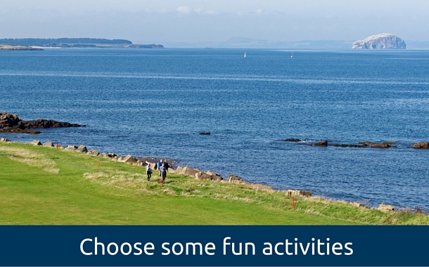 golf courses in Scotland for large groups