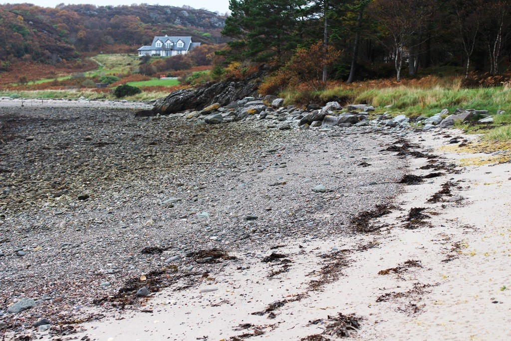 Your own beach on the west coast of Scotland. Copyright Scotts Castle Holidays
