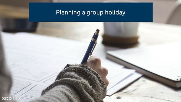 planning a large group holiday