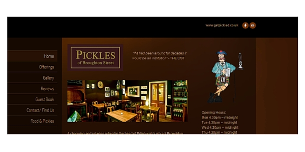 Best places to eat out in edinburgh Pickles