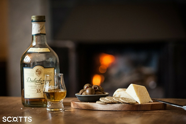 Drink Scottish whisky in large holiday house as part of your bucket list