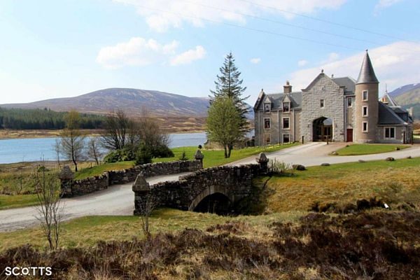 large holiday house by a loch in Scotland