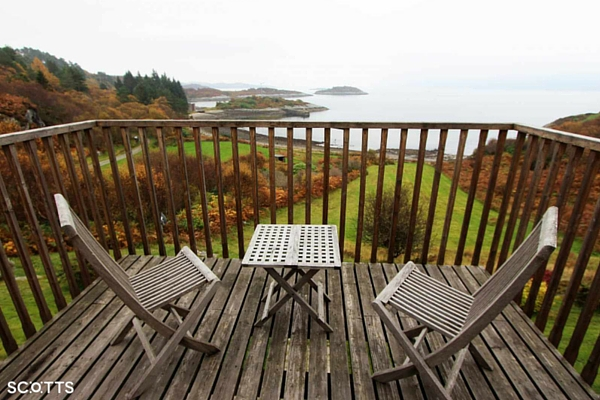 lochside holiday house Scotland in amazing views