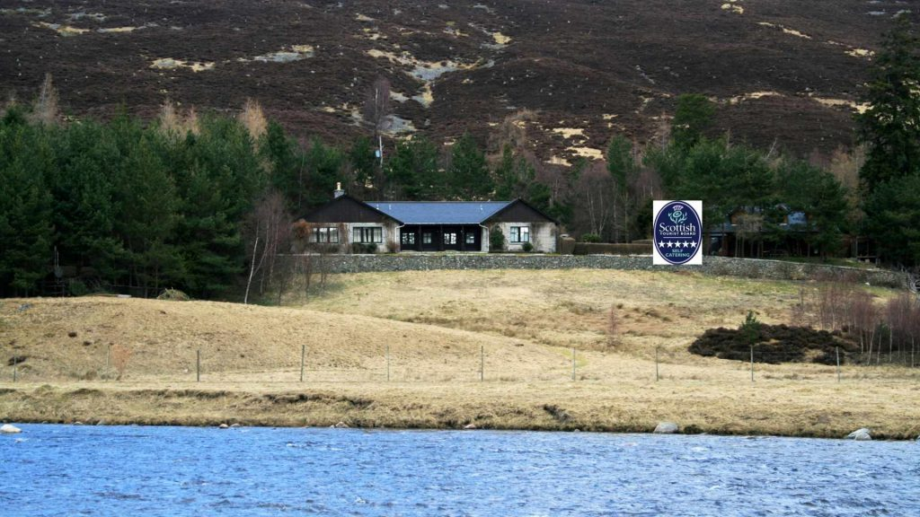 modern luxury lodge near Braemar in the Scottish Highland