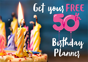 50th birthday party planner graphic