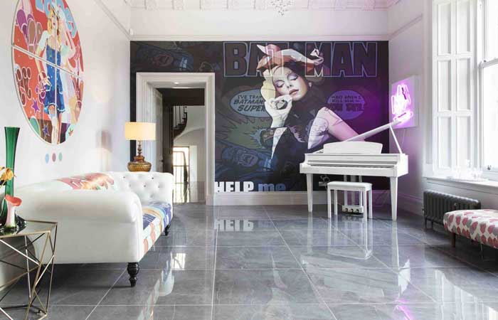 They don't come more unique than this luxury pop art country house