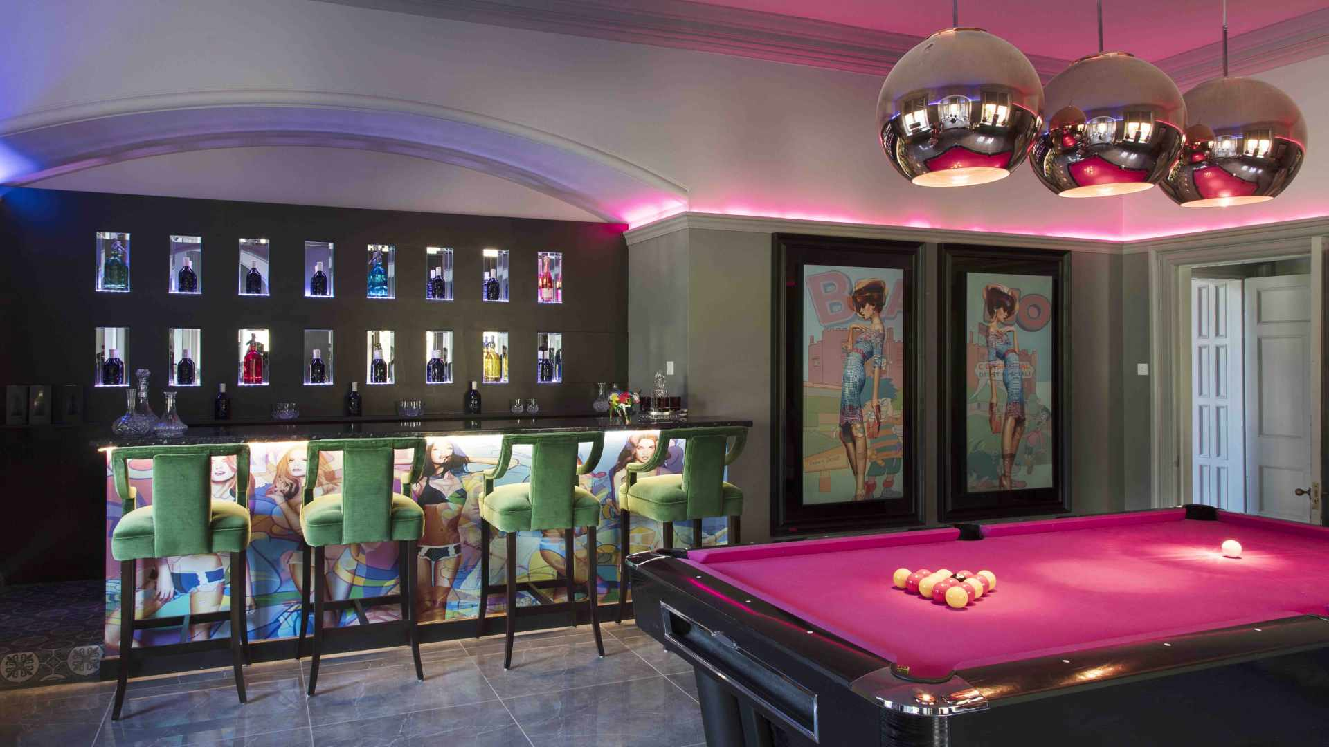 Lots of enormous fun can be had around the pool table and by the bar