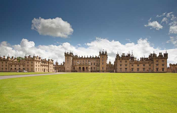 Floors Castle in Roxburghshire, South-east Scotland