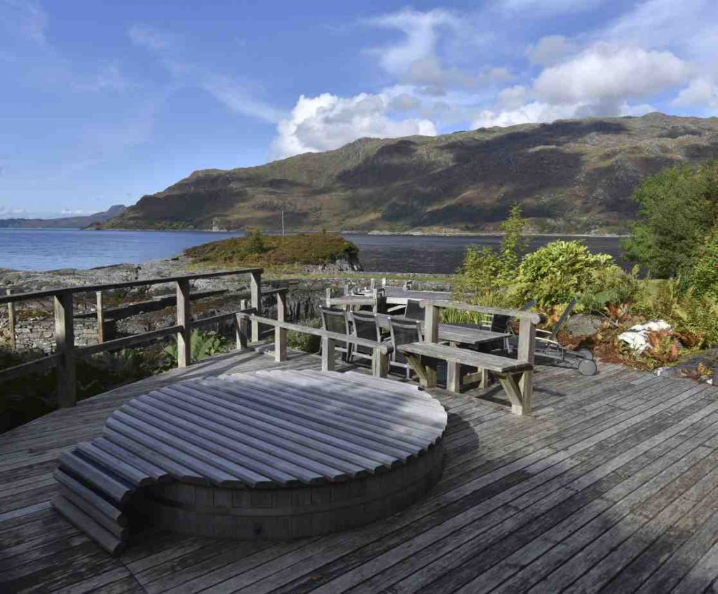 Celebrity owned holiday home with hot tub in secret location in Scotland