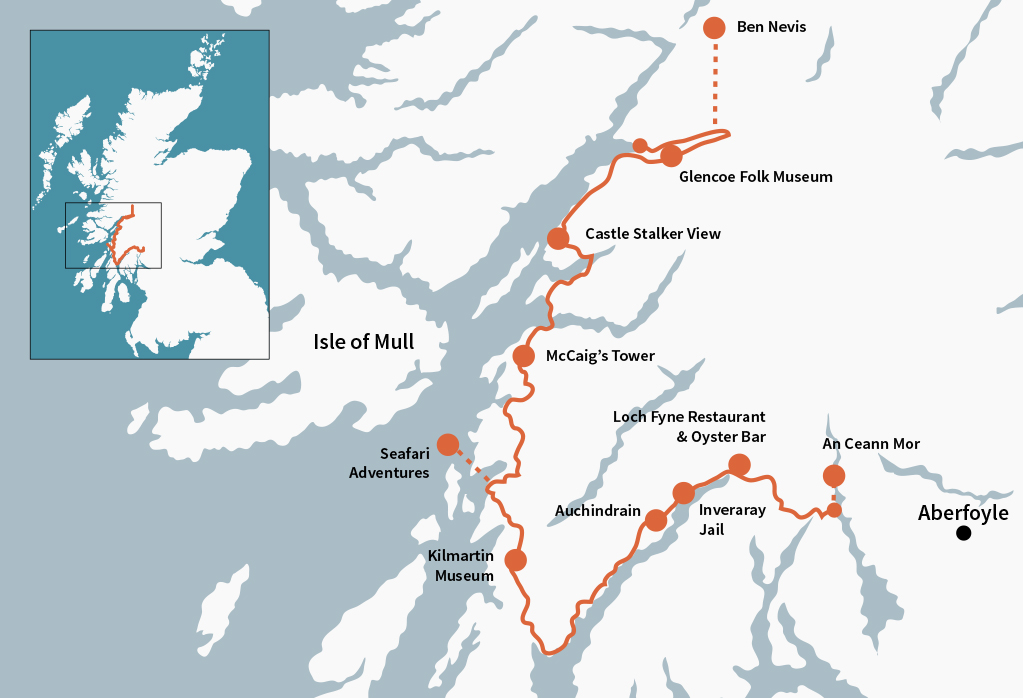 The Argyll Coastal Route is full of big, bold, stunning Scottish scenery