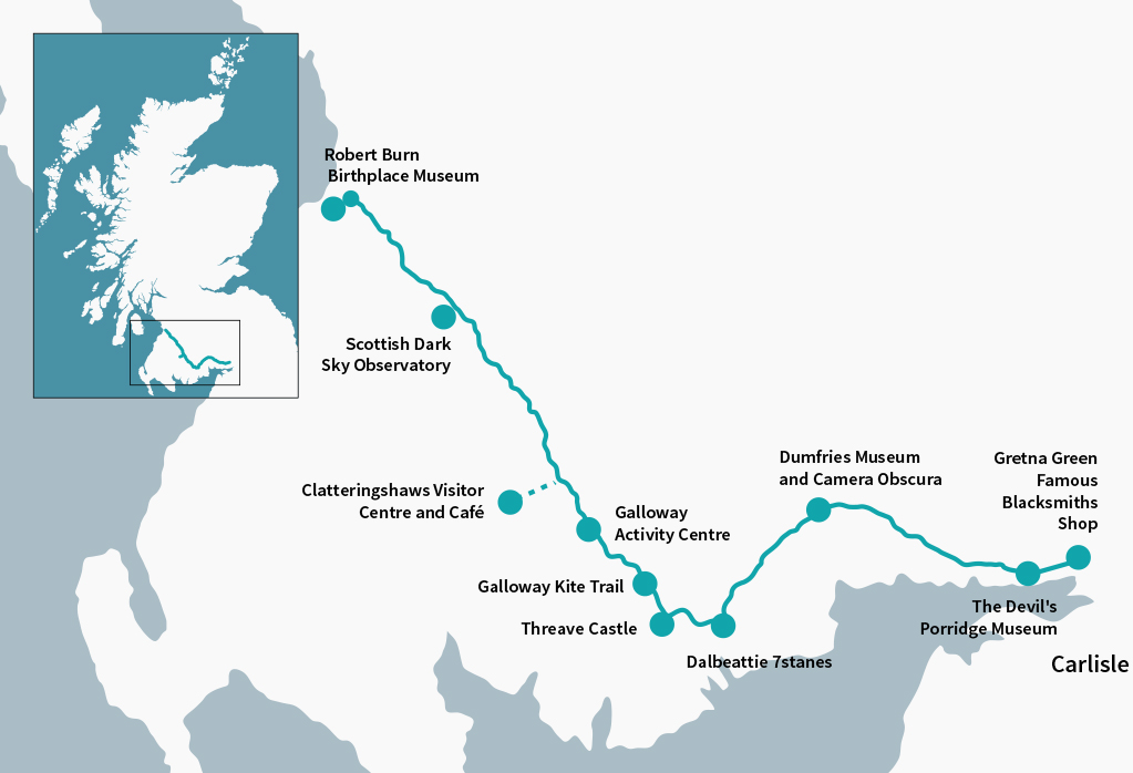 Galloway Tourist Route, from Gretna Geen to Robert Burn