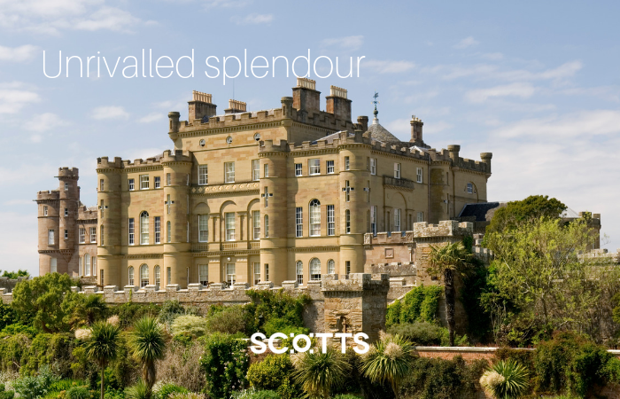 This is Culzean Castle one of Scotland's grand castle built for splendour rather than defence
